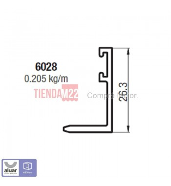 6028 - TAPA PREMARCO EXTERIOR. - PERFIL ALUAR