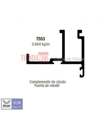 RPT-7553N - COMPLEMENTO ZOCALO PUERTA REBATIR NATURAL