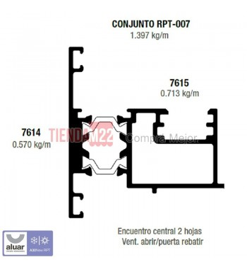RPT-007N - ENCUENTRO 2 HOJAS - PERFIL ALUAR