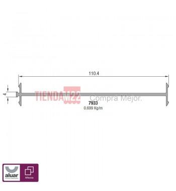 7933N - ACOPLE SIMPLE 114 MM NATURAL
