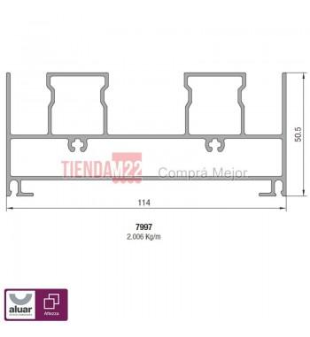 7997N - DINTEL CORREDIZA ALZANTE GOS-S NATURAL