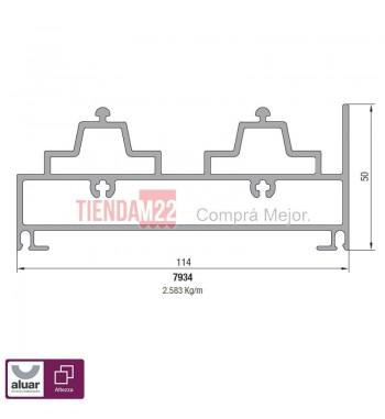 7934N - UMBRAL CORREDIZA ALZANTE NEW X NATURAL