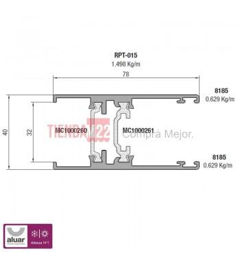 RPT-015N - HOJA CORREDIZA NATURAL