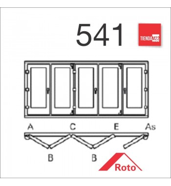 PLEG. P/PVC 541 UMBRAL EMBUTIDO -     PLG-PVC-E-541