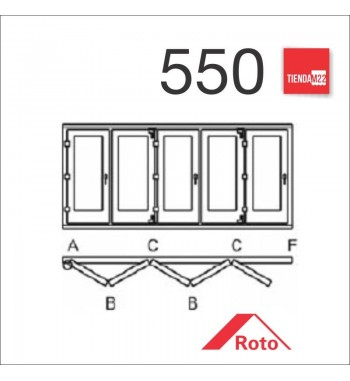PLEG. P/PVC 550 UMBRAL EMBUTIDO -     PLG-PVC-E-550