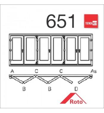 PLEG. P/PVC 651 UMBRAL EMBUTIDO -     PLG-PVC-E-651