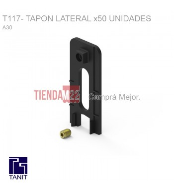 T117-A30 TAPON LATERAL NEGRO X 50 - M9920