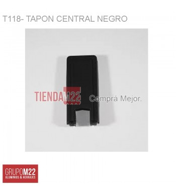 T118-NEGRO TAPON PTE CTRAL X 50 - M9992