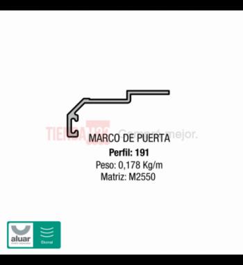 191 - COMPLEMENTARIOS-MARCO DE PTA TABIQUE - PERFIL ALUAR