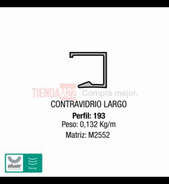 193 - COMPLEMENTARIOS-CONTRAVIDRIO LARGO TABIQUE - PERFIL ALUAR