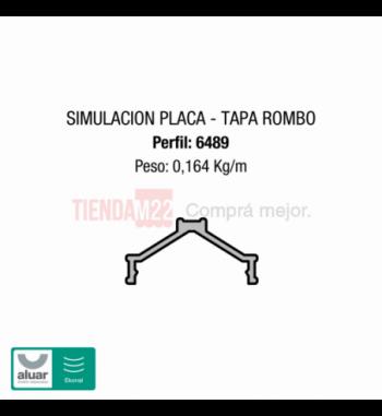 6489 - PLACA TAPA ROMBO - PERFIL ALUAR