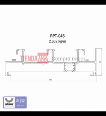 RPT-045 - RPT- MARCO CORREDIZA DE 3 GUIAS- PERFIL ALUAR