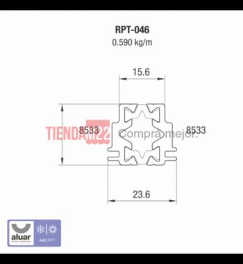 RPT-046 - RPT-ENCUENTRO CENTRAL DE 4 HOJAS- PERFIL ALUAR