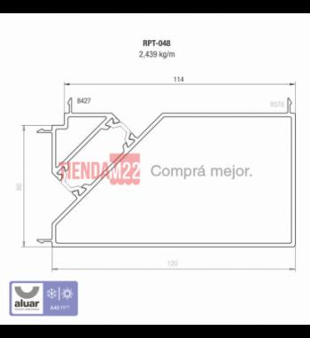 RPT-048 - RPT-ACOPLE 90° PARA MARCOS DE 60MM A 114 MM- PERFIL ALUAR
