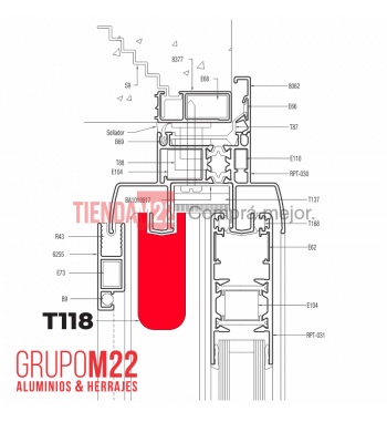T118-BLANCO TAPON PTE CTRAL X 50 - M9918