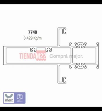 7748 - TRAVESAÑO 140 MM- PERFIL ALUAR