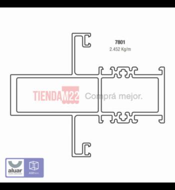 7801 - TRAVESAÑO 100 MM- PERFIL ALUAR
