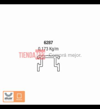 6287 - GUÍA INFERIOR HOJA CORREDIZA PUERTA AUTOMÁTICA- PERFIL ALUAR