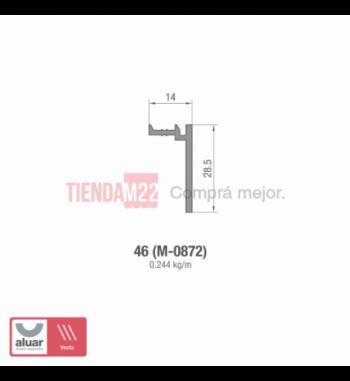 46 - TAPA PREMARCO PARA MARCO DE 75 MM (M-0872)- PERFIL ALUAR