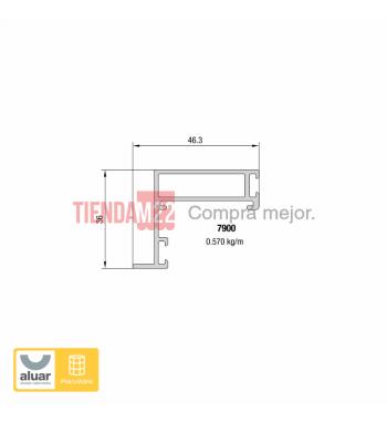 7900 - PIEL DE VIDRIO - HOJA VIDRIO PEGADO VHB 3M - NATUR- PERFIL ALUAR