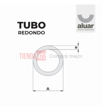 MC-155 - TUBO REDONDO 200 X 8 - ALUAR
